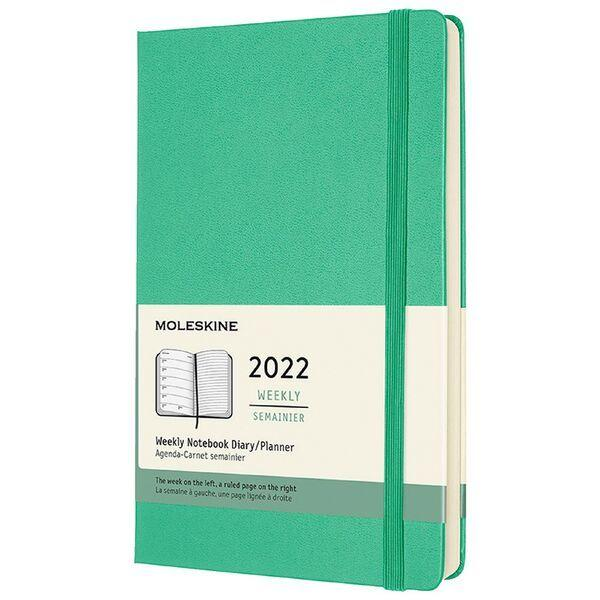 Hard Cover Large Weekly Ice Green 2022 Diary