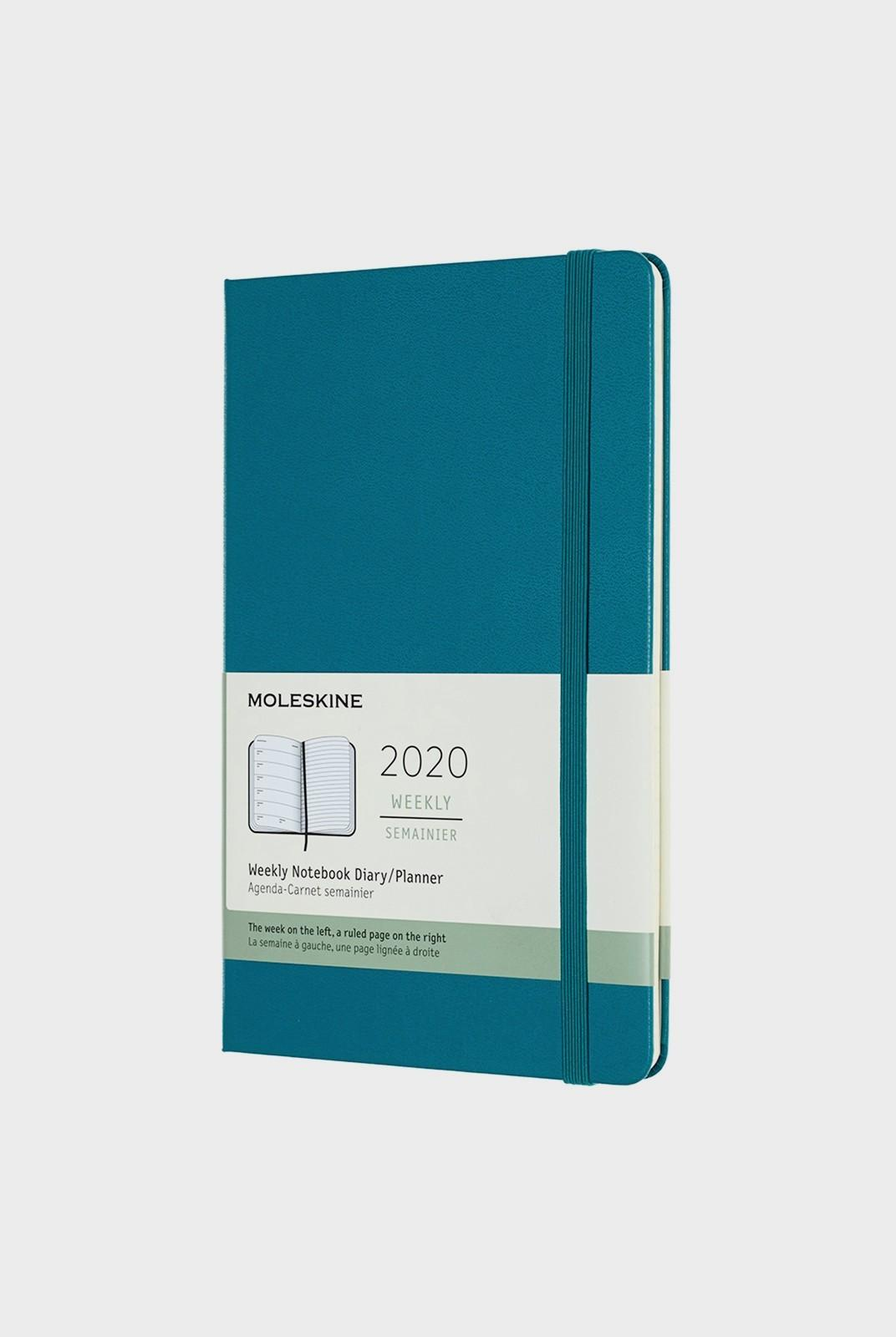 Hard Cover Weekly Notebook Large Magnetic Green 2020 Diary