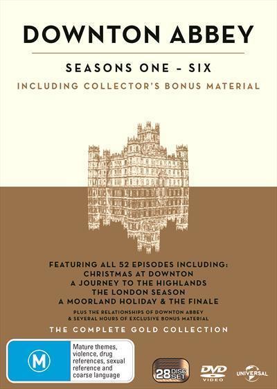 Downton Abbey: Season 1 to 6 GoldBoxset(DVD)