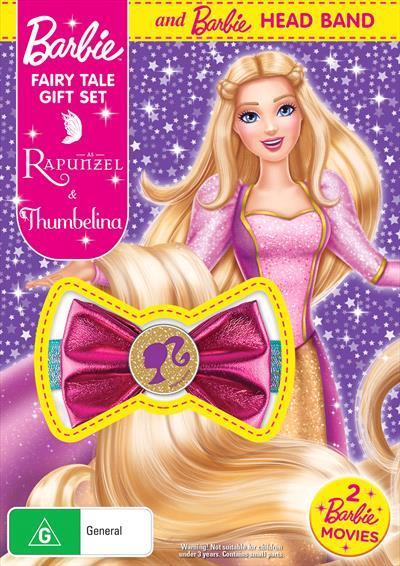 Barbie Thumbelina / Barbie As Rapunzel | Barbie Fairy Tale Pack + Gift With Purchase