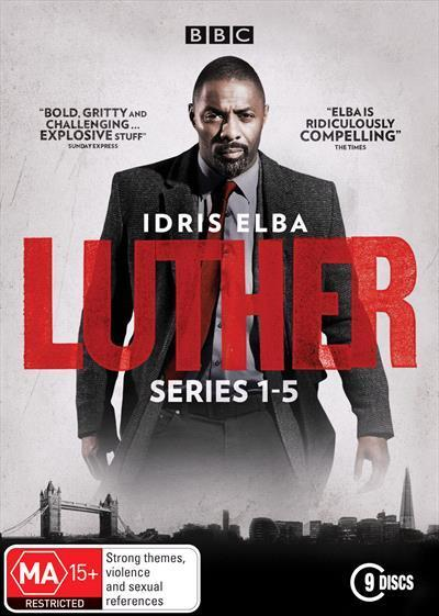 Luther: Season 1 to 5 (DVD)