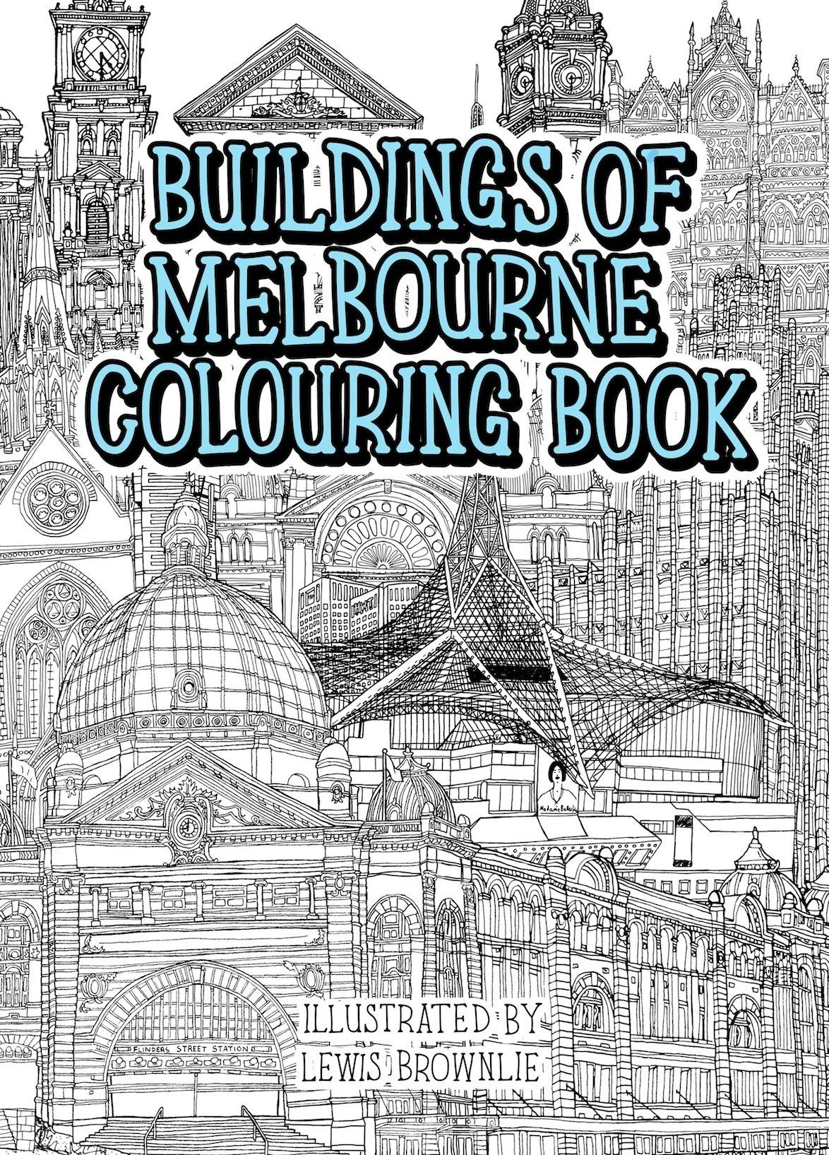 Colouring books for adults melbourne - Buildings Of Melbourne Colouring Book