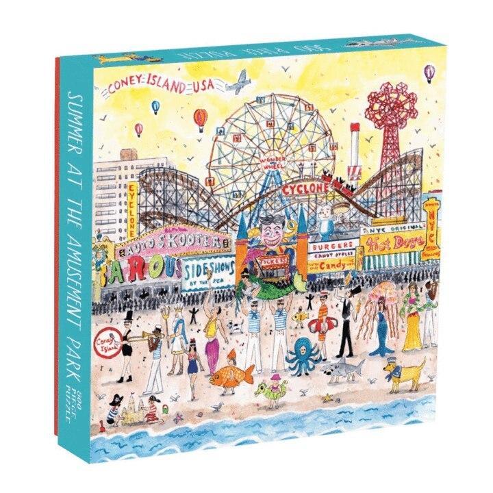 Michael Storrings Summer at the Amusement Park Jigsaw Puzzle(500pieces)
