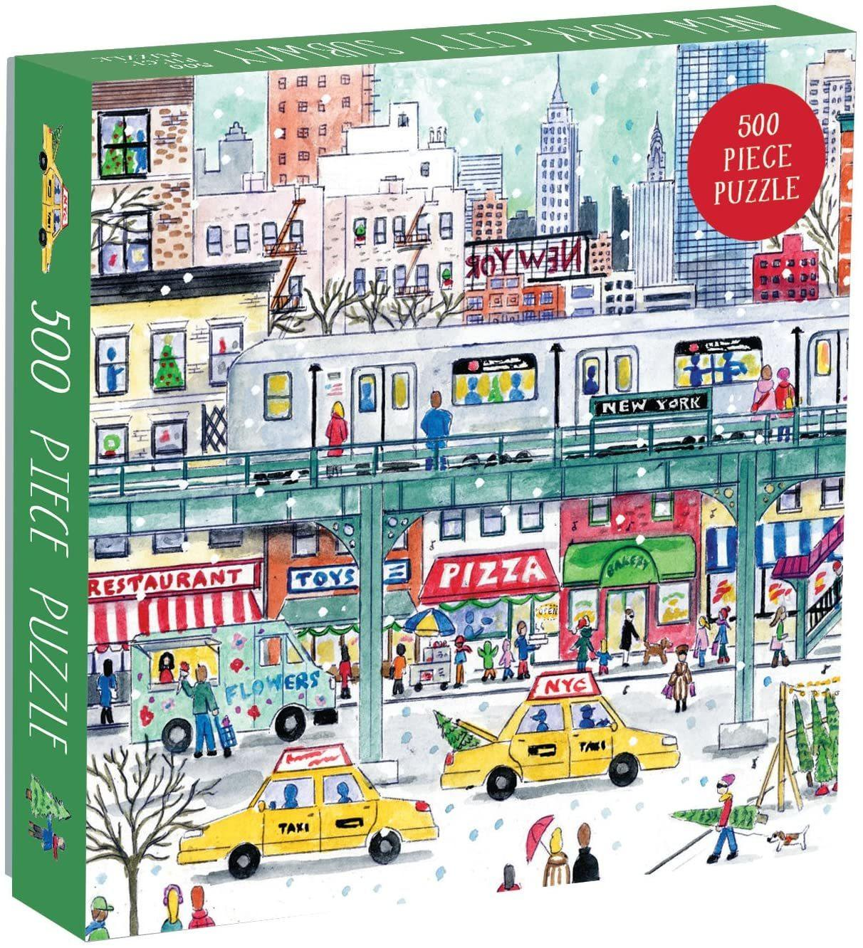 Michael Storrings New York City Subway Jigsaw Puzzle(500pieces)