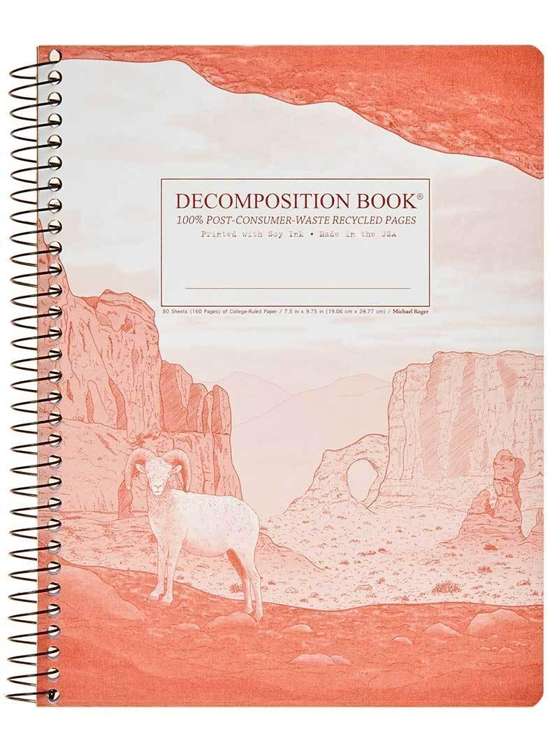 Moab Decomposition Spiral NotebookRuledLarge