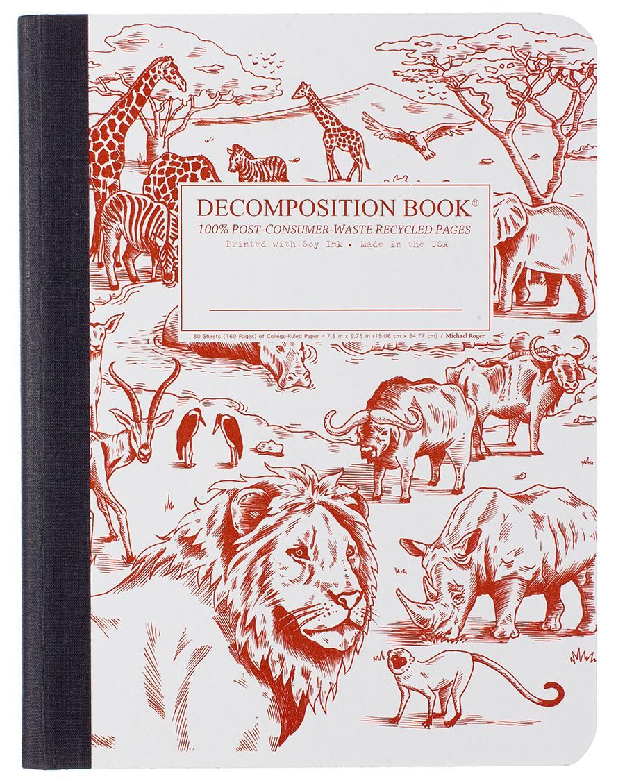 Decomposition Notebook Large Ruled African Safari