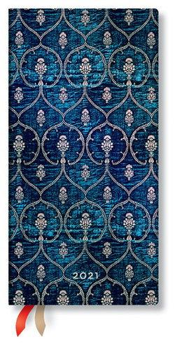 Paperblanks Weekly 2021 Diary (Blue Velvet, Slim)