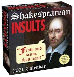 Shakespearean Insults 2021 Box Calendar