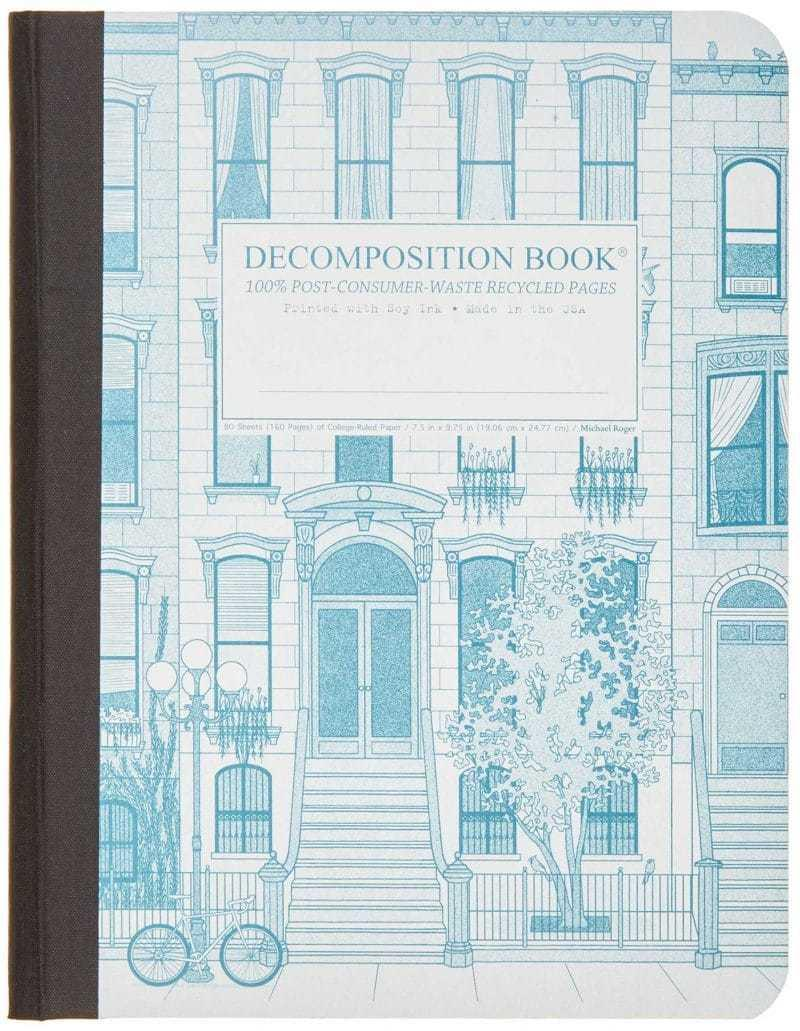 Decomposition Notebook Large Ruled Brownstone