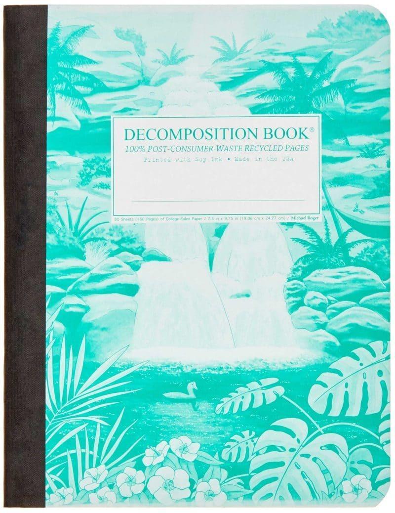 Decomposition Notebook Large Ruled Hawaiian Waterfall