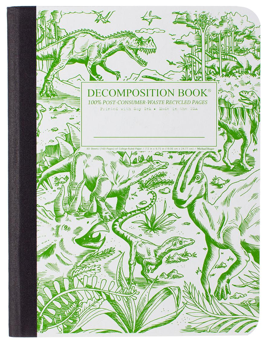 Decomposition Notebook LargeRuledDinosaurs
