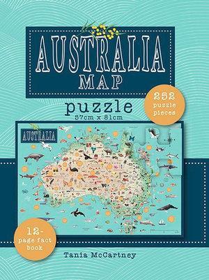 Jigsaw Puzzle: Australia Map (250 pieces+book)