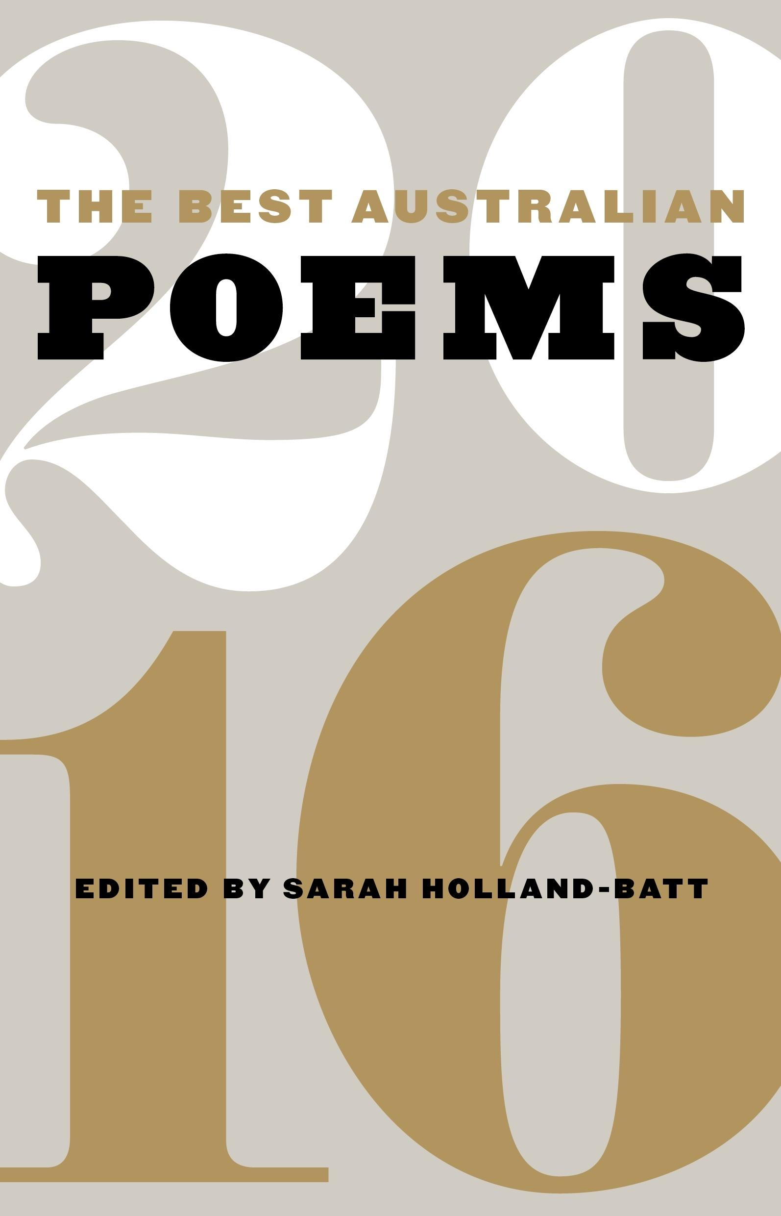 The Best Australian Poems 2016